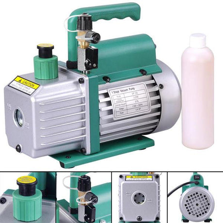 TheDIYOutlet 3 CFM 1-Stage AC Refrigerant Vacuum Pump Green