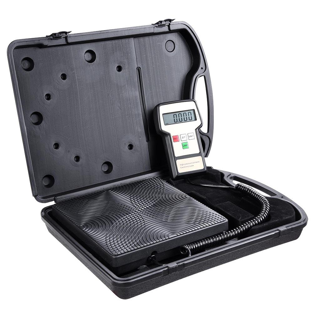 220lbs HVAC Digital Refrigerant Charging Scale w/ Case | The