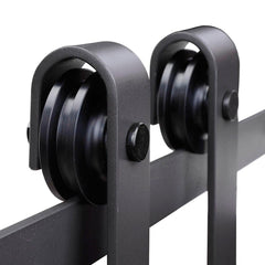 10' Sliding Barn Door Hardware Set Single Door 2 Rollers