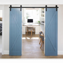TheDIYOutlet 12' Interior Sliding Barn Double Door Hardware Set I Style