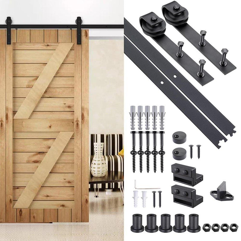 TheDIYOutlet 6' Interior Cabinet Sliding Barn Wood Door Hardware Set