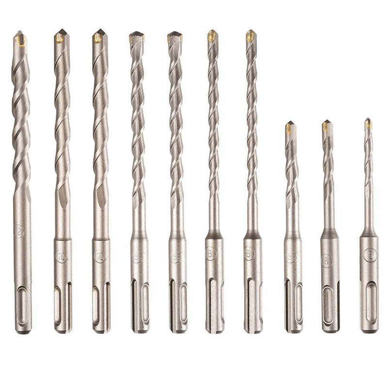 TheDIYOutlet 20pcs SDS/SDS-Plus Universal Hammer Drill Bits