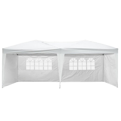 20x10 ft Folding Canopy Party Tent w/ 4 Sidewalls White