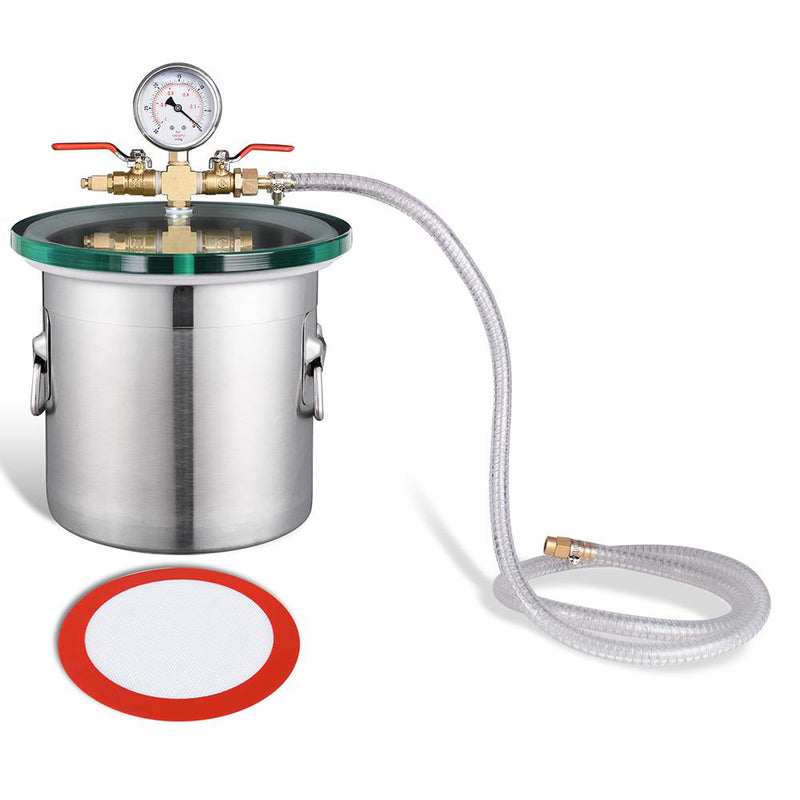 TheDIYOutlet 2-Gal Vacuum Degassing Chamber Stainless Steel