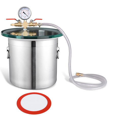 TheDIYOutlet 3-Gal Vacuum Degassing Chamber Stainless Steel