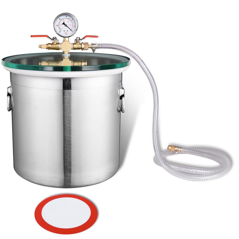 TheDIYOutlet 5-Gal Vacuum Degassing Chamber Stainless Steel