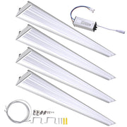 TheDIYOutlet 4 Set 4ft Garage LED Workshop Lights - 40W 5000K Aluminum Base