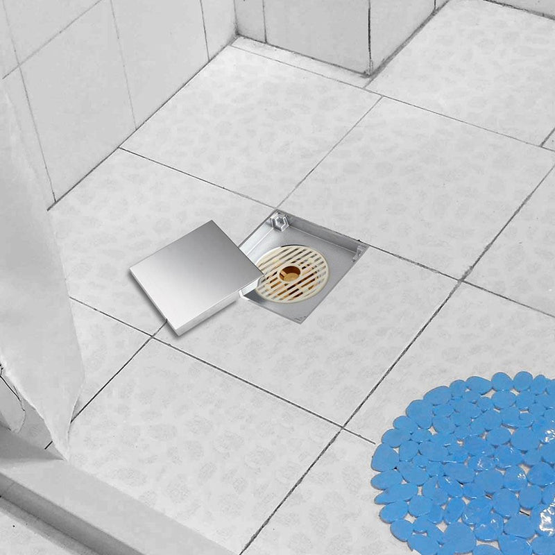 Aquaterior Floor Drain with Strainer & Cover 4x4in