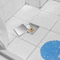 TheDIYOutlet Aquaterior Floor Drain with Strainer & Cover 4x4in