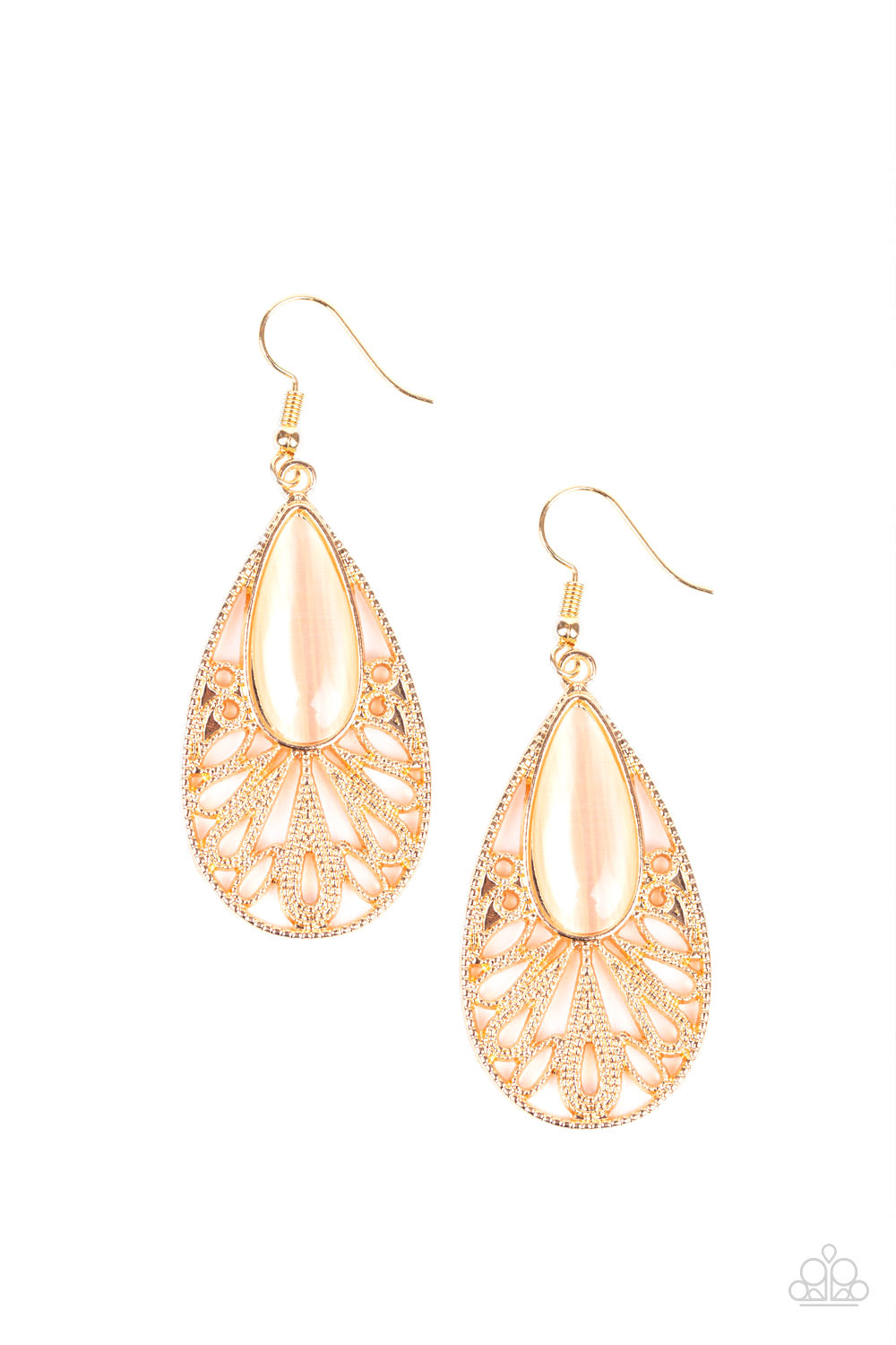 Glowing Tranquility - Gold - Earrings