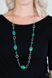 Shimmer Simmer - Green - Necklace