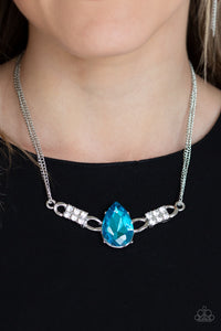 Way To Make An Entrance - Blue - Necklace
