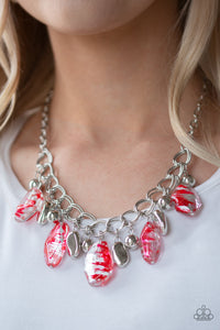 Chroma Drama - Red - Necklace