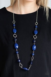 Shimmer Simmer - Blue - Necklace