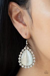 Teardrop Trendsetter - White - Earrings