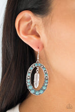 Load image into Gallery viewer, Put Up A FLIGHT - Blue - Earrings