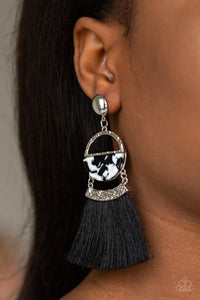 Tassel Trot - Black - Earrings