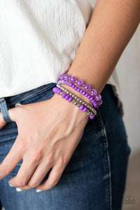 Layered Luster - Purple Paparazzi Bracelet