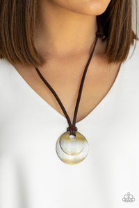 Clean Slate - Brass - Necklace