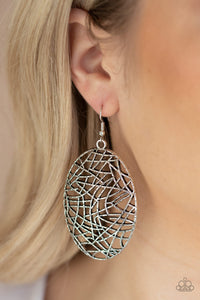 Way Out of Line - Silver - Earrings