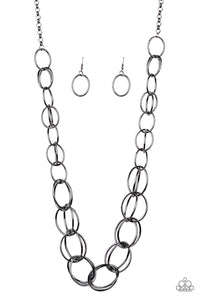 Elegantly Ensnared - Black - Necklace