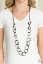 Load image into Gallery viewer, Elegantly Ensnared - Black - Necklace