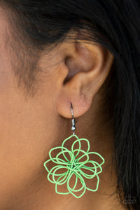 Springtime Serenity - Green - Earrings