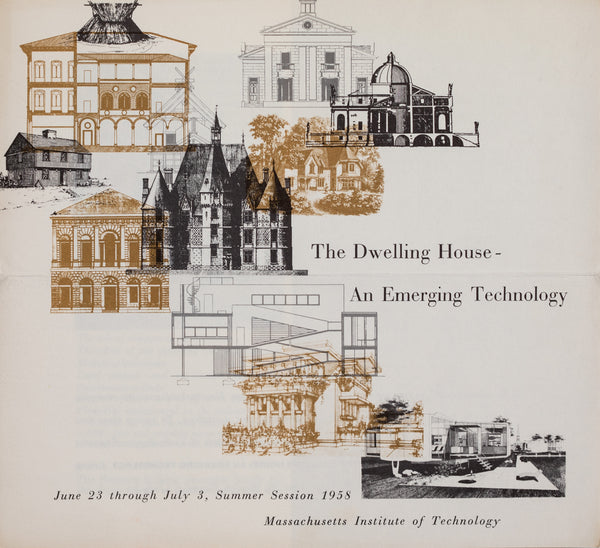 'The Dwelling House' brochure for MIT by George Adams