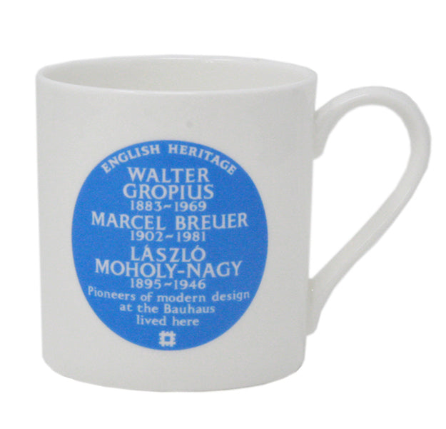 English Heritage blue plaque Bauhaus mug