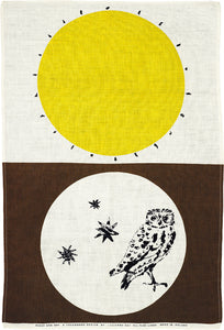 Lucienne Day tea towel Night And Day