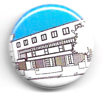Lapel badge Willow Road blue