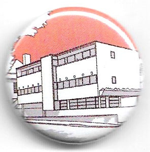Lapel badge 66 Frognal pink