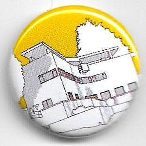 Lapel badge High And Over yellow