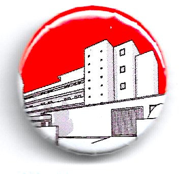 Lapel badge Isokon red