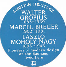 Load image into Gallery viewer, Postcard - English Heritage blue plaque Bauhaus