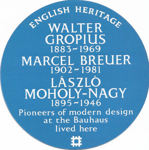 Postcard - English Heritage blue plaque Bauhaus