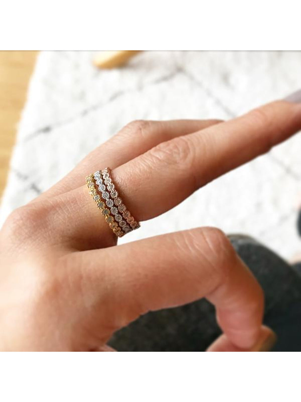 Eternity Band Stacking Ring