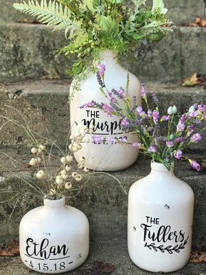 Large Personalized Ceramic Jug