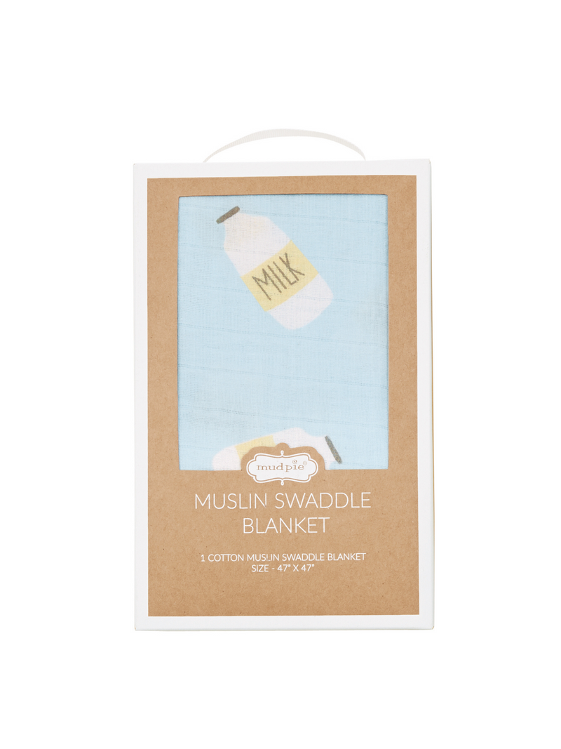 Muslin Swaddle Blanket - Milk