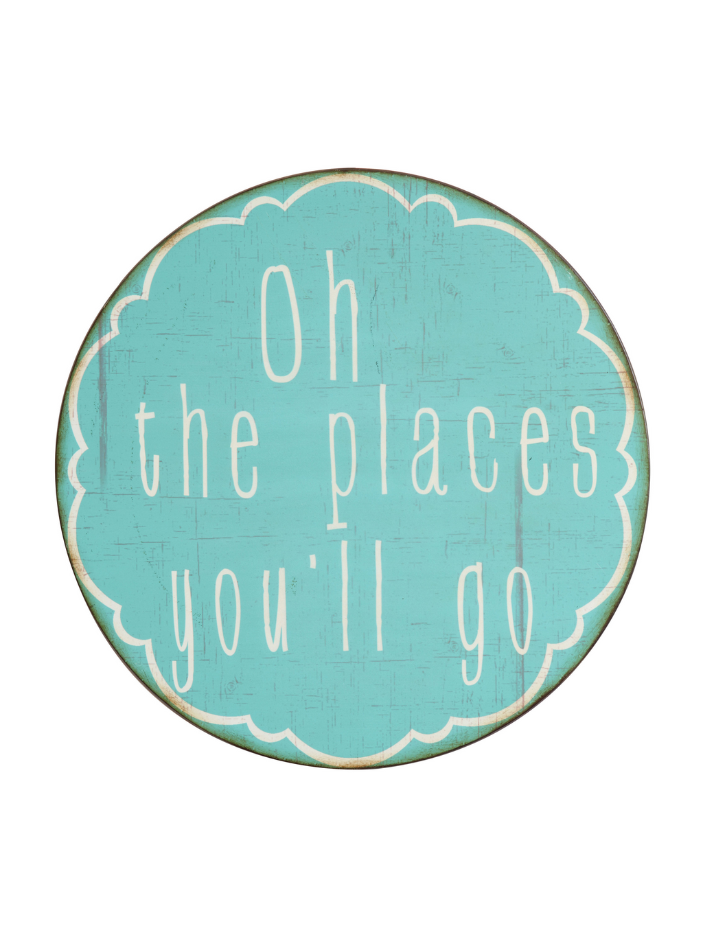 Oh the Places Metal Wall Decor