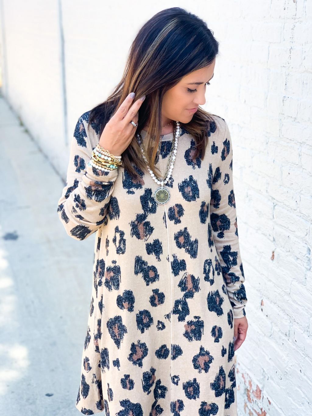 Julie Leopard Dress