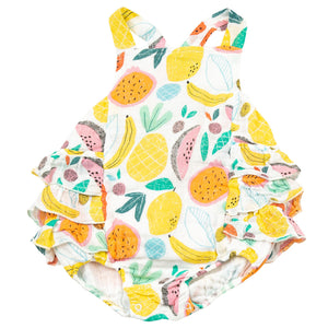 Taylor Tropical Fruit Ruffle Sunsuit
