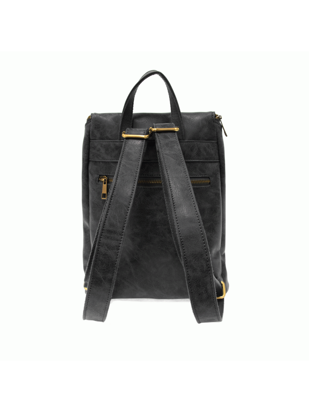 Alyssa Distressed Backpack - Black