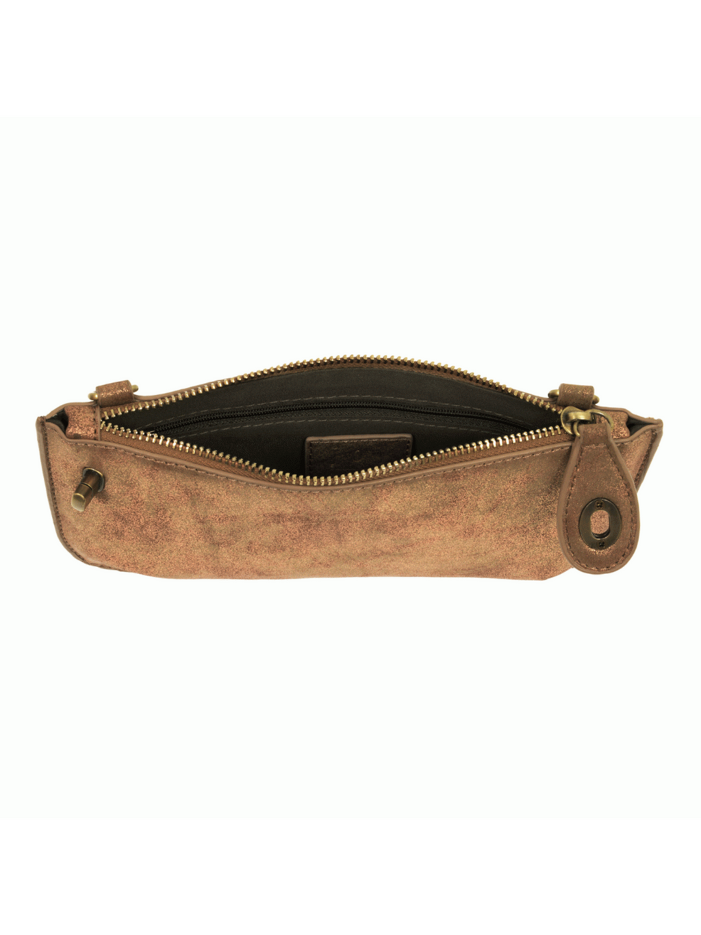 Lustre Lux Crossbody Wristlet Clutch - Light Copper