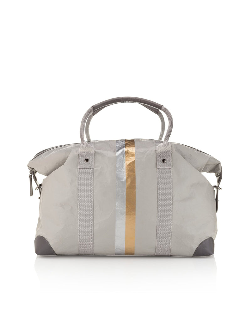 The Weekender - Gray with Metallic Double Line