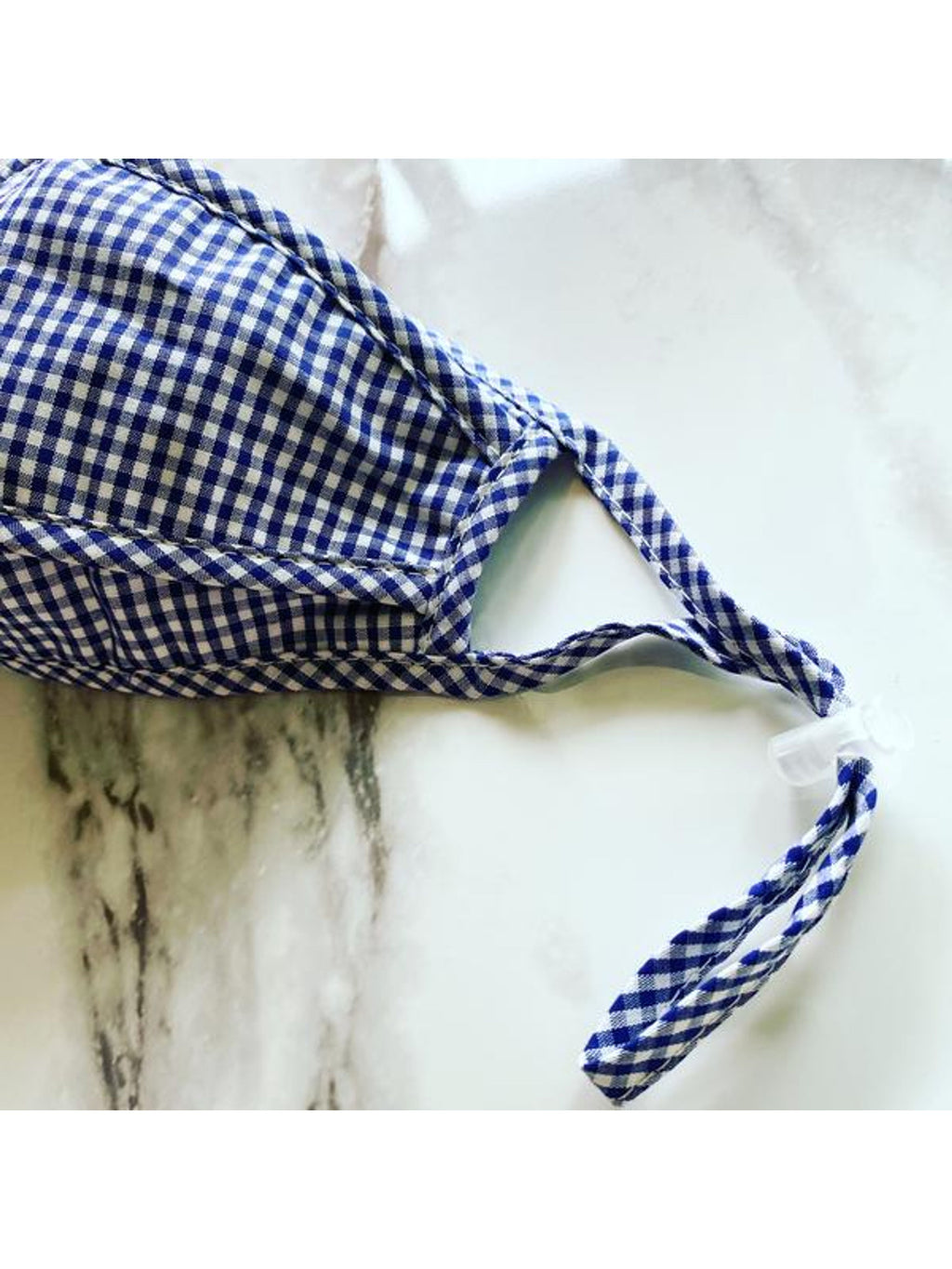 Blue Gingham Protective Face Mask