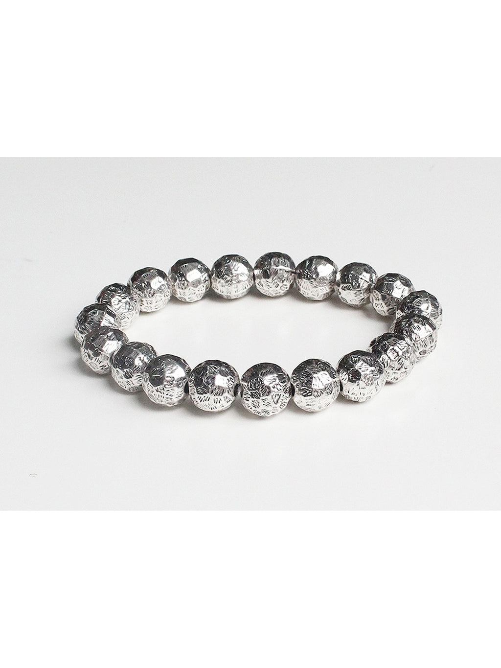 Hammered Metal Beaded Bracelet