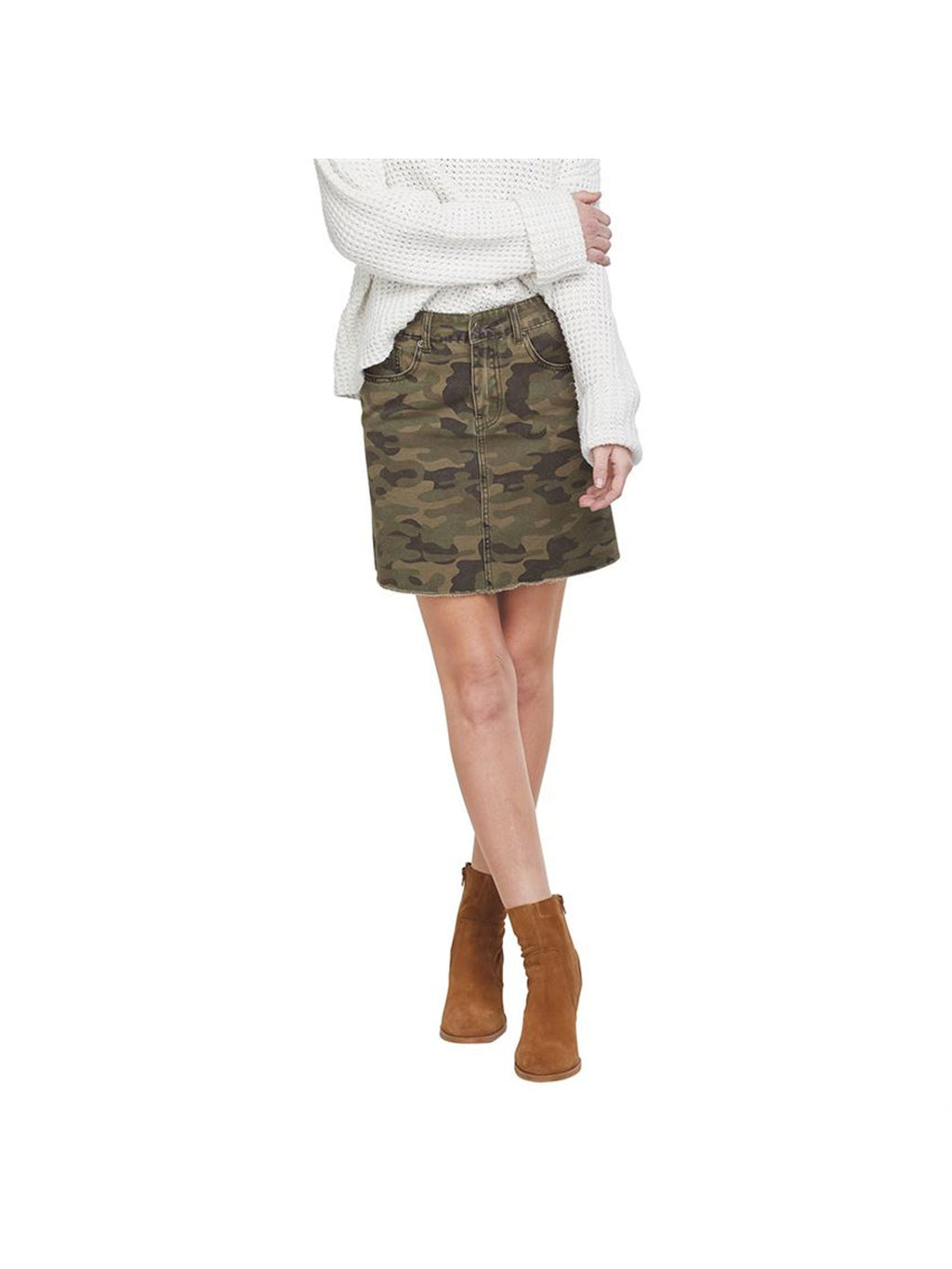Stevie Green Camo Skirt