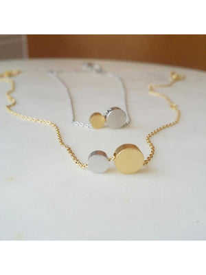 Double Disc Necklace
