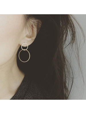 Asymmetrical Dangle Hoop Earrings